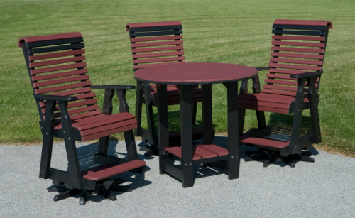 Poly Swivel Chairs With Table. At Country View Lawn Furniture ...