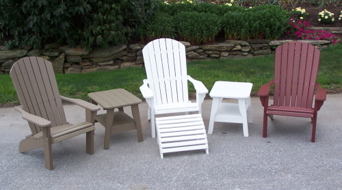 Poly Fan Back Chairs with Tables